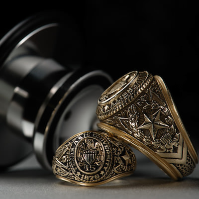 Aggie rings with a stethoscope